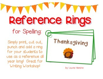Reference Ring for Spelling: THANKSGIVING