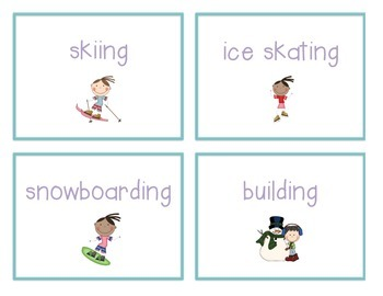 Spelling Cards for Writing: WINTER