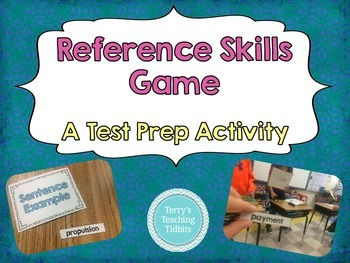 Reference Skills Game - Dictionary Skills Test Prep for Upper Elementary
