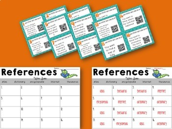 Reference Sources Activities Bundle