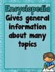 Reference Sources {Anchor Charts, Interactive Notebook Fol