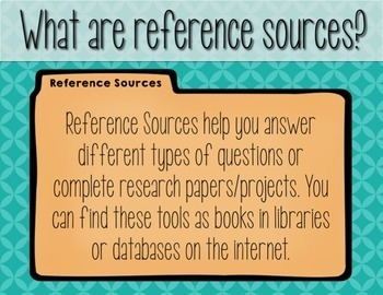 Reference Sources PowerPoint