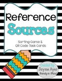 Reference Sources: Sorting Game & QR Code Task Cards