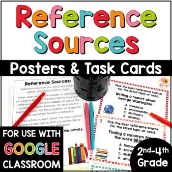 Reference Sources Posters and Task Cards