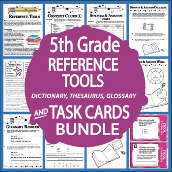 Reference Skills Activities – Dictionary, Thesaurus, & Glossary Lesson