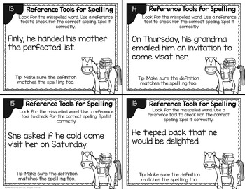 Spelling Task Cards (Using Reference Tools) - L.2.2.E