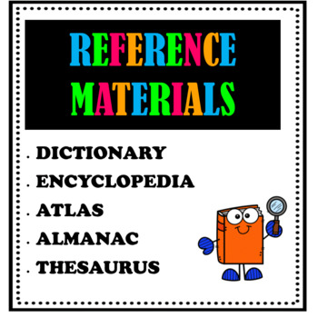 Reference and Research Materials Worksheet