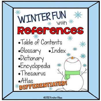 Reference Materials Winter Themed