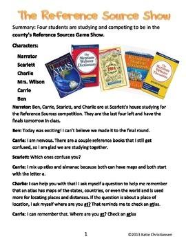 References Reader's Theater:Almanac,Atlas,Dictionary,Encyclopedia,Thesaurus