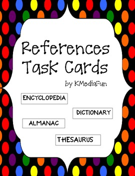 References Task Cards by KMediaFun