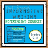 Referencing Sources in FSA Style Informative Text-Based Es