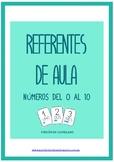 Referentes de aula: Números 0 al 10 (castellano)