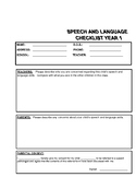 Referral Forms For Speech Pathology - Year 1