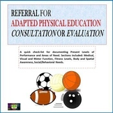 Adapted Physical Education Referral Form for Consultation