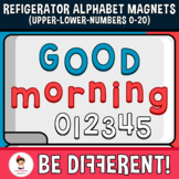 Refigerator Alphabet Magnets Letters Clipart (Upper-Lower-