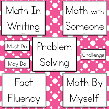 Refillable Math Station Boards