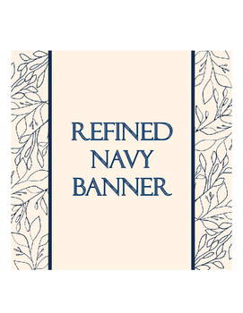 Refined Navy banner