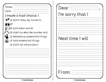 Reflect and Restore Sheets for PreK to 8 Restorative Practices