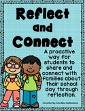 Reflect and Connect- Student Reflection Notes (Home to Sch