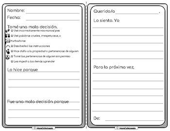 Bilingual Spanish English Reflect Restore PreK to 8 Restorative Practices