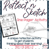 Reflect 'n' Sketch. A Reflection One Pager