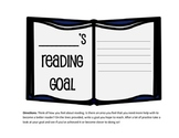 Reflect on Reading: My Reading Goal Template Back to School
