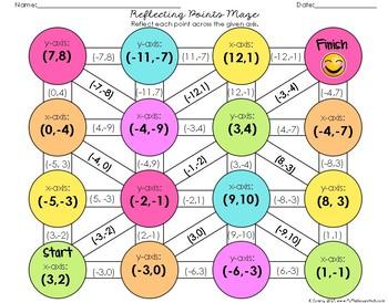 Reflecting Points Maze