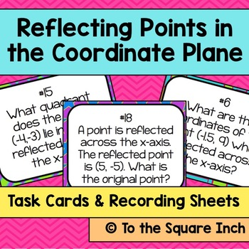 Reflecting Points in the Coordinate Plane Task Cards