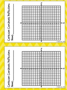 Reflecting Points on a Coordinate Grid Task Cards