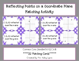 Reflecting Points on a Coordinate Plane-Matching Activity