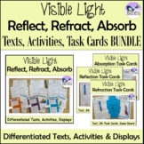 Reflection Refraction and Absorption of Light Energy Task Cards and Games BUNDLE