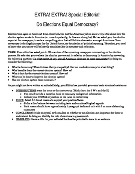 Reflecting on American Elections: A Writing Activity