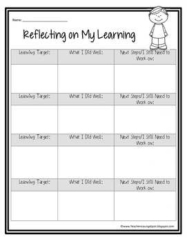 Reflecting on Learning FREEBIE!