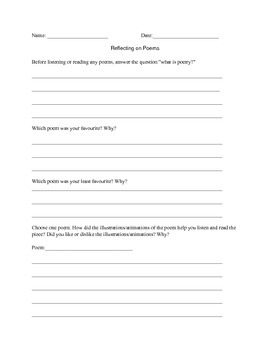 Poetry Response Questions