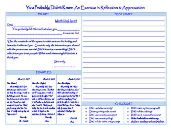 Reflection & Appreciation Exercise