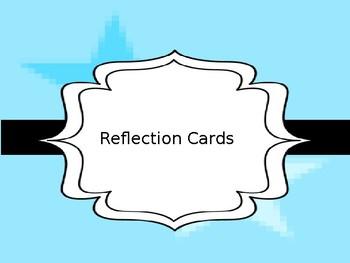Reflection Card Sample