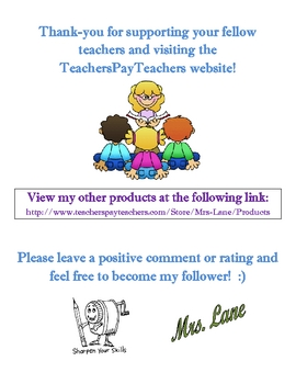 Reflection Center (Great Classroom Management Tool!)