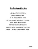 Reflection Center- Primary and Upper Elementary!