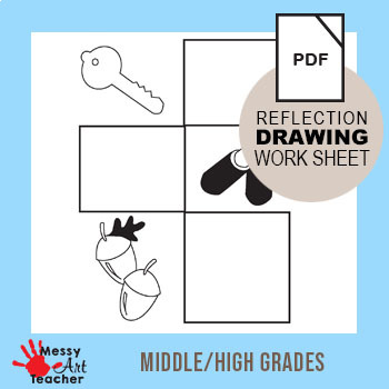 Reflection Drawing Sheet II for Middle/High School Grades