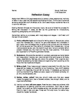 Reflection Essay Assignment