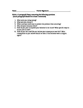 Reflection Essay for Bad Behavior