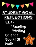 Reflection Graphic Organizers for Student Goals