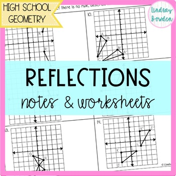 Reflection Guided Notes and Worksheet