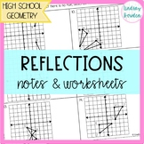 Reflections Guided Notes and Worksheet