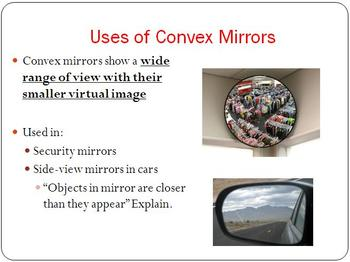 Reflection In Curved Mirrors - Optics PowerPoint Lesson & Student Notes Package