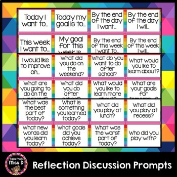 Reflection Discussion Prompts