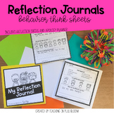 Reflection Journals | Think Sheets + Apology Planner | Tar