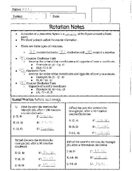 Rotation Notes and Foldable