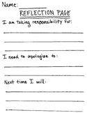 Reflection Page - Behavior Management