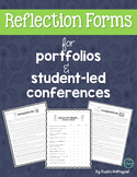 Reflection Pages for Portfolios or Student-Led Conferences
